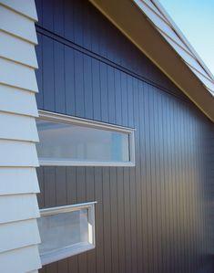 Scyon - photos - Scyon Axon Cladding Don't mind this for a bit of a boathouse look. Exterior Wall Cladding, House Cladding, Timber Cladding, Facade House, House Facades, House Exteriors, Exterior Colors, Interior And Exterior, Interior Design