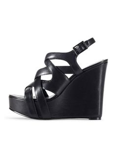 1e1c8d9360135 black wedges Black Wedge Sandals