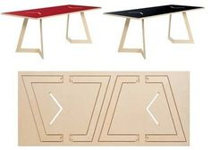 Tischmich Folding Table from Moorman : TreeHugger