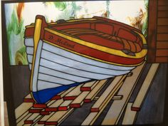 Stain glass boat