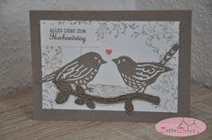 Stampin' Up! beim ZettelZirkus: Vogelhochzeit, Hochzeitstag, Herz, Liebe, Timeless Textures, Blumen und Vögel