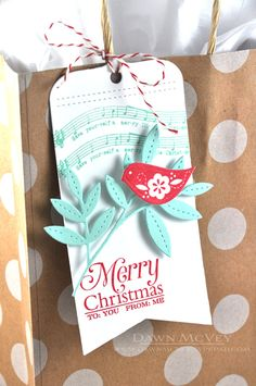 Merry Christmas Tag by Dawn McVey for Papertrey Ink (October 2014)