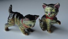 Vintage Calico Cat Figurine Marked N. Set of 2 by Cosasraras, $13.50