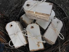 100 Wooden Gift Tags Rustic Chic Wedding  Cottage Wind Swept Farmhouse Inspired on Etsy, $76.00