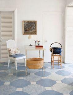 Bunny Mellon's painted floor