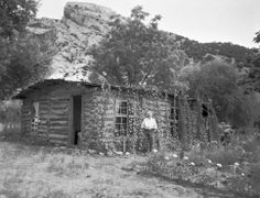 Josie Bassett McKnight Ranney Williams Wells Morris at her Cub Creek homestead on the west end of the Blue Mountain. Courtesy Uintah County Regional History Center