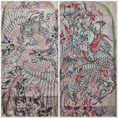 Japan Tattoo, Asian Art, Tatting, Stencils, Vintage World Maps, Japanese, Style, Dragons, Tattoo Japanese