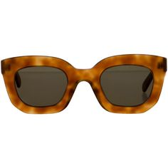 Celine Oversize Tortoiseshell Sunglasses (€215) via Polyvore featuring accessories, eyewear, sunglasses, brown, brown tortoise shell glasses, over sized sunglasses, brown sunglasses, tortoiseshell sunglasses et acetate sunglasses