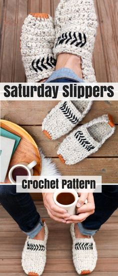 No idea what to give the men in your life? These modern men's crochet slippers will give you a go-to gift for dads, sons, brothers and boyfriends from now on. #crochetslippers #ad #giftformen #crochet #pattern