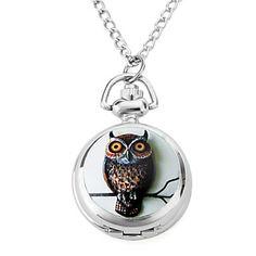 liga das mulheres analógicos quartzo relógios colar com gatos artesanais (prata) – BRL R$ 12,90
