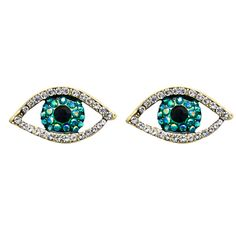 9ae05e81e Butler & Wilson Evil Eye Earrings Swarovski crystal #evileye British  Costume, Evil Eye