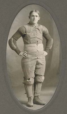 Early football player photo