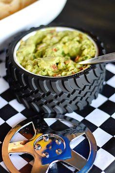 Tire bowl from a Race Car Birthday Party on Kara's Party Ideas | KarasPartyIdeas.com (6)