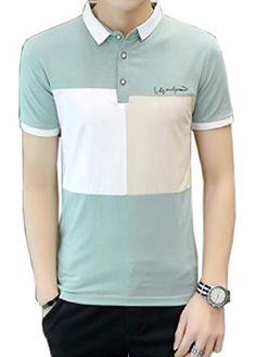 pujingge Men Casual Slim Fit Shirt Vertical Striped Long Sleeve Button Down Shirt