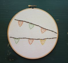 Embroidered Knickknack  // Flags