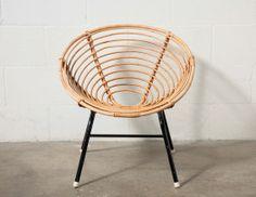 Retro Bamboo Hoop Chair