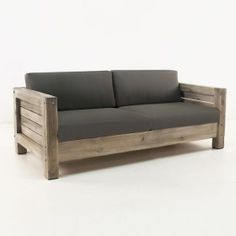 Lodge Distressed Teak Outdoor Loveseat