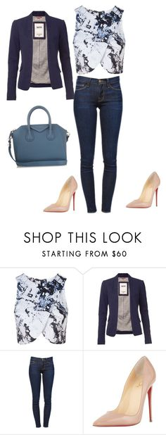 """Untitled #535"" by martinmel-mlm ❤ liked on Polyvore featuring Topshop, Tommy Hilfiger, Frame, Christian Louboutin and Givenchy"