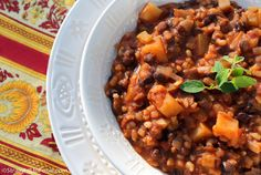 This satisfying, chunky stew is a breeze to make since you can use canned beans and tomatoes. This dish is perfect for cozy dinners or easy, filling lunches for work. Ingredients: 1 cup water (for ...