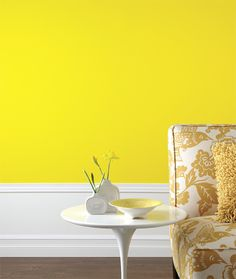 1000 images about yellow accent wall on pinterest Bright yellow wall paint