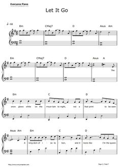 piano music Free Let It Go Easy Version-Frozen Theme Sheet Music Pre Easy Sheet Music, Easy Piano Sheet Music, Violin Sheet Music, Piano Lessons, Music Lessons, Piano Noten, Free Piano Sheets, Piano Songs, Guitar Songs