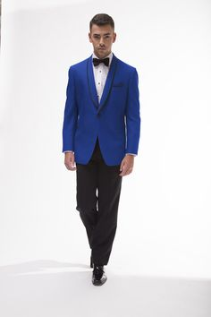 The Connor Blue tuxedo. Available at Milroy's! Find more at www.MilroysTuxedos.com
