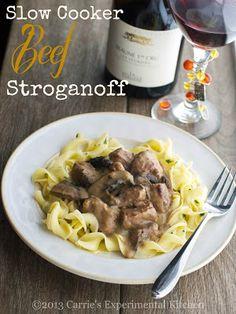Slow Cooker Beef StroganoffCarrie's Experimental Kitchen |