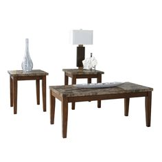 Signature Design by Ashley T158-13 Theo Occasional Table Set | ATG Stores