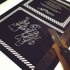 Really excited to see this new #letterpress #weddinginvitation design printed and up on the site!