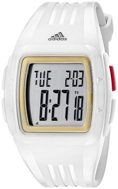 adidas Unisex ADP3157 White Stainless Steel Watch with Polyurethane Band *** Details can be found by clicking on the image.