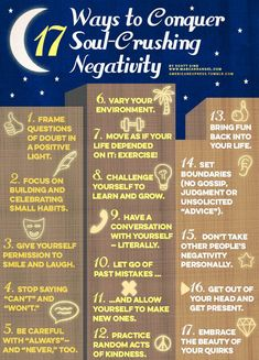 17 Ways to Conquer Soul-Crushing NegativityBy Scott Sind, for Marcandangel.com Read the full article here. MarcAndAngel.com is a regular paid contributor to the American Express Tumblr community.