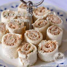Receita enroladinho de atum - Dicas de como fazer - Passo a passo com fotos - Tutorial with pictures - how to make tuna roll- DIY - Madame Criativa - www.madamecriativa.com.br