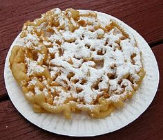 Funnel Cake Recipe This might be my most dangerous find on Pinterest.  Yes, I'm pinning, I have no willpower :P   I love Funnel Cakes!