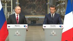 "Rencontre Poutine-Macron: un ""dialogue franc et direct"" sur la situation internationale"