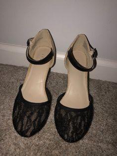 026bb7ad588f Apt 9 Mimosa Black Lace Platform Cork Wedge High Heels Sandals Shoes SIZE 7   fashion