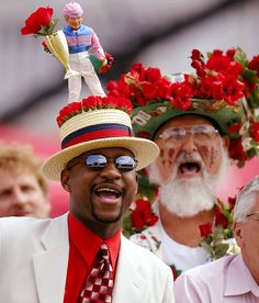 Men at the Kentucky Derby have the craziest hats, not the women!