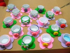Discover thousands of images about would be great for party favors Kids Crafts, Easter Crafts, Diy And Crafts, Foam Sheet Crafts, Foam Crafts, Diy Ostern, Ideas Para Fiestas, Cupcake Wrappers, Mothers Day Crafts
