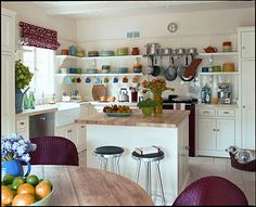 clean and colorful Kitchen //Kathryn M. Ireland