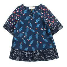 STELLA McCARTNEY KIDS Inca feather pattern dress