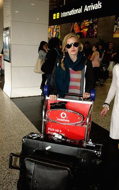 Georgia May Jagger with her Globe-Trotter Centenary Black Suitcase