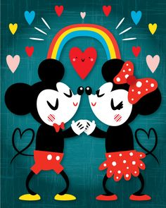 From Crowded Teeth Micky and Minnie Mouse