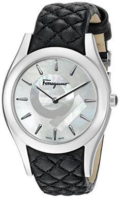 Salvatore Ferragamo Women's FG4060014 LIRICA Analog Display Quartz Black Watch -- Check out this great product.