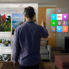 """An awesome Virtual Reality pic! Microsoft coming out with that tony Starks shit this gonna change the technology game... Of course Apple gonna make it better HoloLens Microsoft's augmented reality headset is a big deal for the company that is struggling to retain relevancy with consumers after it missed out on the smartphone and tablet boom.  The headset which has been at least three years in the making is described as the """"first holographic computer running Windows 10."""" The headset is…"""