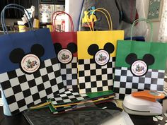 Mickey and the roadster racers gift bags