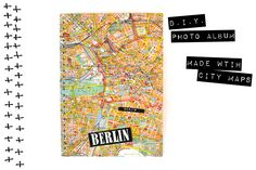 Upcycling Fotoalbum aus Stadtplan / Photo album made of city map