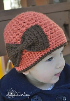 Girls Crochet Fall Hat. Beanie. Festive Hat by LiyaDarling on Etsy, $23.00