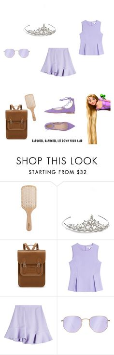 """""""Rupunzel #2"""" by kaley-shirley on Polyvore featuring Philip Kingsley, Nina, The Cambridge Satchel Company, Diane Von Furstenberg, Carven, Ray-Ban, Carla G., princess, WDW and disney4life"""