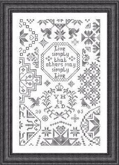 Simple Little Quaker - Cross Stitch Pattern