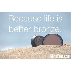 Who agrees?!  We're also wondering... would anyone like us to do a giveaway on our mineral bronzing powders?  Let us know in the comments below!!  We've never done a bronzing powder giveaway before :o)  #konatans | KonaTans.com