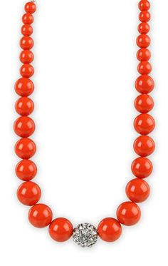 Bead Necklace with Center Stone  Deb Shop $3.99